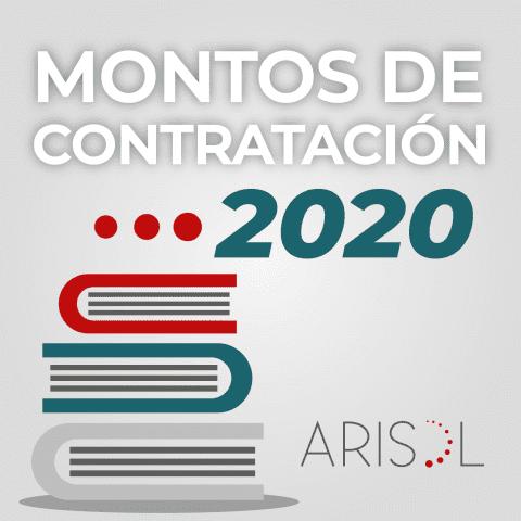 MONTOS DE CONTRATACIÓN 2020